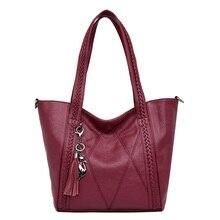 Женские сумки с двумя карманами, женская сумка из искусственной кожи, женская сумка-тоут, Женская винтажная практичная сумка на плечо, sac a main 2018