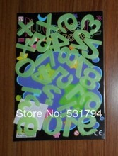 hot deal buy 26piece digital luminous wall stickers neon wall stickers three-dimensional wall stickers infant
