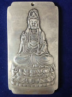 Chinesische guan-yin tibet Silber Bullion thanka amulett