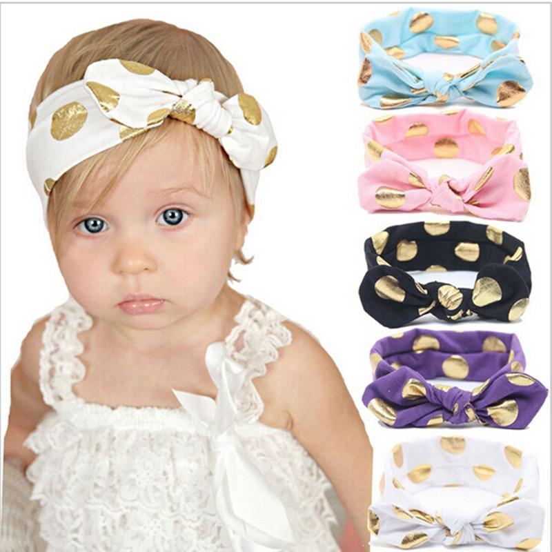 Polka New Fashion Colorful Headbands Bow Lovely Hairband For Girls Dot Bandana Turban Knot Headband Baby Hair Accesories 2018 knot back polka dot wrap top