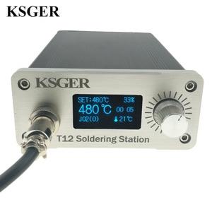 Image 2 - KSGER הלחמה תחנת DIY ערכת STM32 2.1S OLED 1.3 תצוגת טמפרטורת בקר דיגיטלי אלקטרוני ריתוך ברזל T12 ברזל טיפים