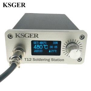 Image 2 - KSGER Estación de soldadura STM32 2,1 S, pantalla OLED 1,3, controlador de temperatura, soldadura electrónica Digital, puntas de hierro T12