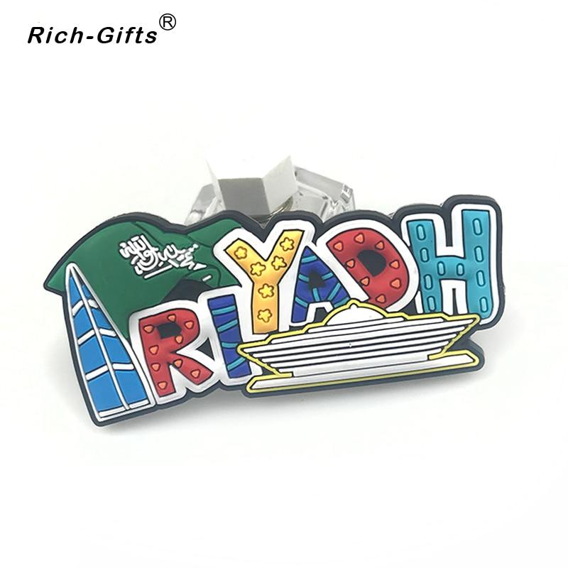 Maps of Saudi Arabia  Soft Rubber Tourism Souvenir Fridge Magnet promotion gifts custom available