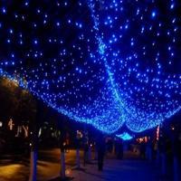 3x3 M Cascada 336LED Luz de la Secuencia Del Banquete de Boda de Navidad Decoración Azul de Flujo de Agua
