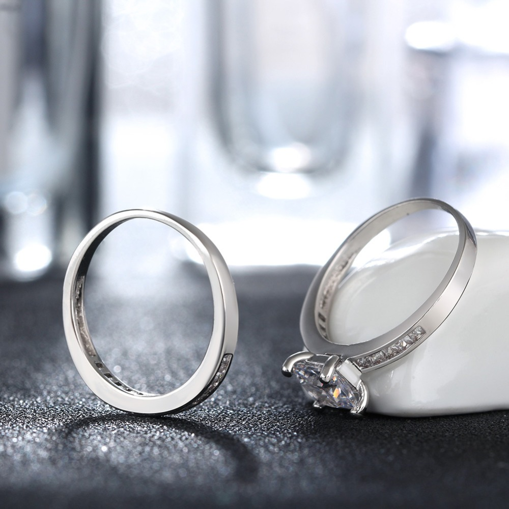 ORSA JEWELS Luxury 1ct Square Crystal Bridal Sets Bröllop & - Märkessmycken - Foto 4