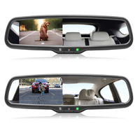 AZGIANT 4.3 inch TFT LCD Display Screen Car Monitor Professional Auto Dimming Anti g lare Rearview Mirror Monitor Much Safer