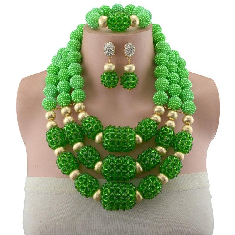 2018 Bridal Gift Nigerian Wedding Fashion African Beads Jewelry Set Wholesale Dubai Gold Color Jewelry Set Costume Design цена