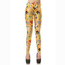 1064 Fitness Elastic Women Leggings Sexy Girl Polyester Slim Fit Workout Pants Trousers Halloween Skull Mummy Wolf Printed