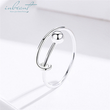 inbeaut Hot Sale 100% 925 Sterling Silver Womens Trendy Cute European Minimalism Ring Teen Girls Luxury Fine Jewelry