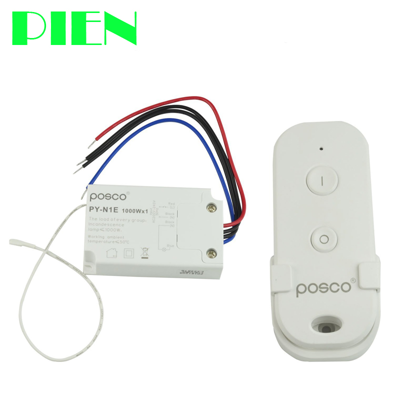 Wireless Lights Switch Remote control interruptor with Power Push button for LED Lamp Pool lighting 220V 120V Free shipping