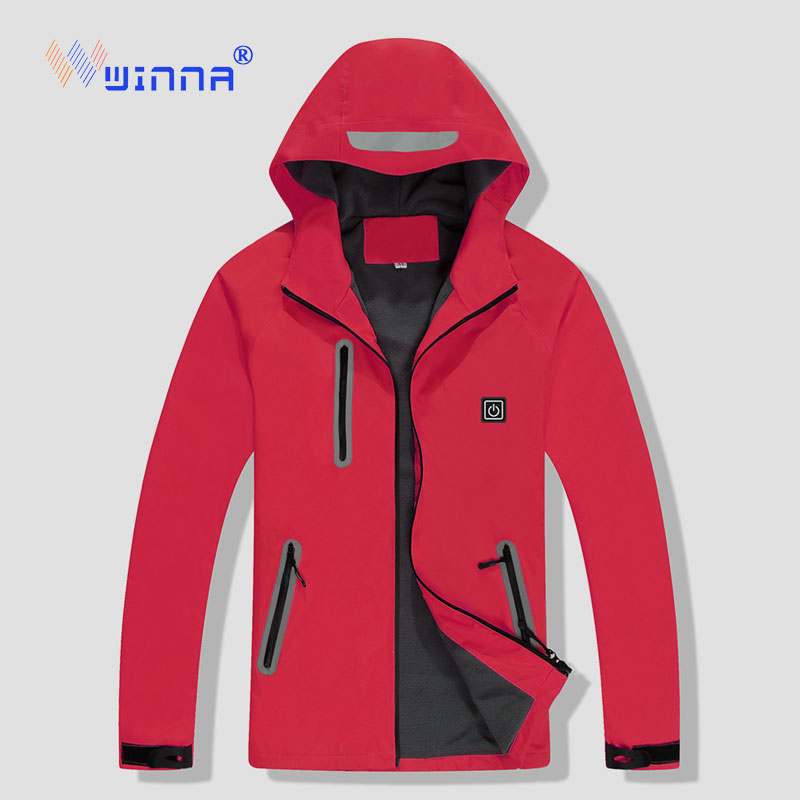 NEW USB Heated Jacket Winter Skiing Camping Jackets Windproof Waterproof 3 Level Thermal For Women Men Sport Cloth Size M-XXXXL