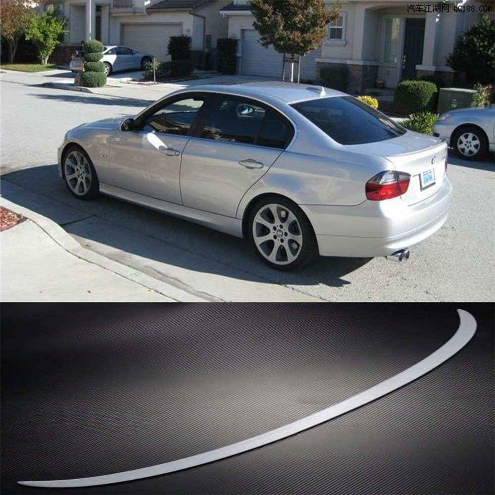 E90 PU Gray primer Car Trunk lip spoiler boot wing For BMW 2005-2012 M3 Style