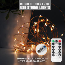 цены 3PCS 5M USB Waterproof Remote Control Fairy Lights Operated LED Lights Decoration 8 Mode Timer String Copper Wire Christmas