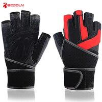 BOODUN Letnie Sport Fitness Rękawice odporne na Zużycie Siłownia Mężczyźni Genuine Leather Gloves Dumbened Wrist Bell Ćwiczenia Rękawice Kobiet