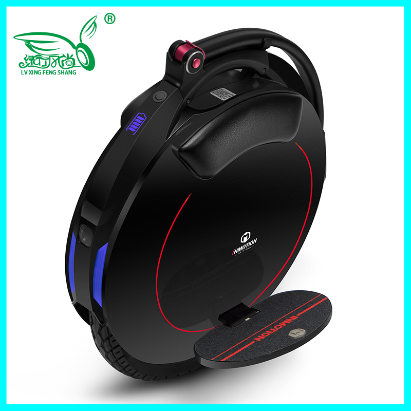 Freeshipping INMOTION V5F Single wheel electric unicycle A wheel bike With handle lever Bluetooth APP speed 28km/h,550W motor
