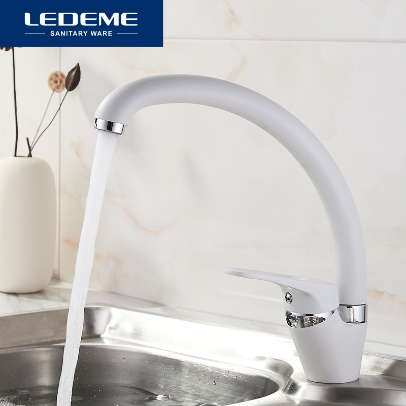 LEDEME Kitchen Faucet Fashion Style Color New Brass Kitchen Faucets Rotating 360 Degree Cozinha Mixer Contemporary Faucet L5913H
