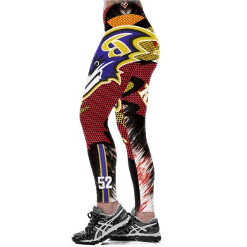 Unisex Football Team Ravens 52 Print Tight Pants Workout Gym Training Running Yoga Sport Fitness Exercise Leggings Dropshipping