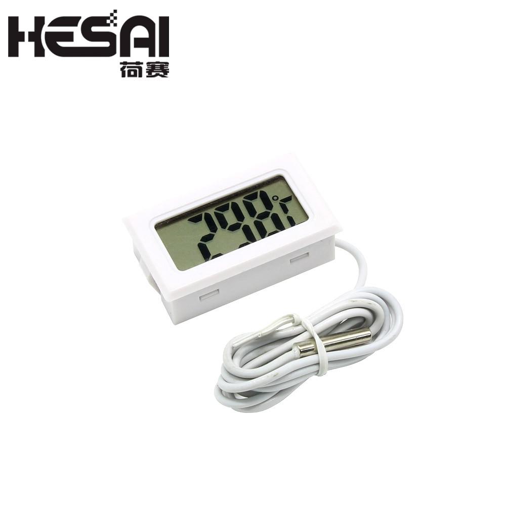 1M Mini LCD Display Meter Cyfrowy termometr z czarnym czujnikiem / - Przyrządy pomiarowe - Zdjęcie 2