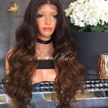 New Arrival Ombre 180%  virgin Peruvian full lace wigs Custom natural hairline glueless lace front wigs baby hair around