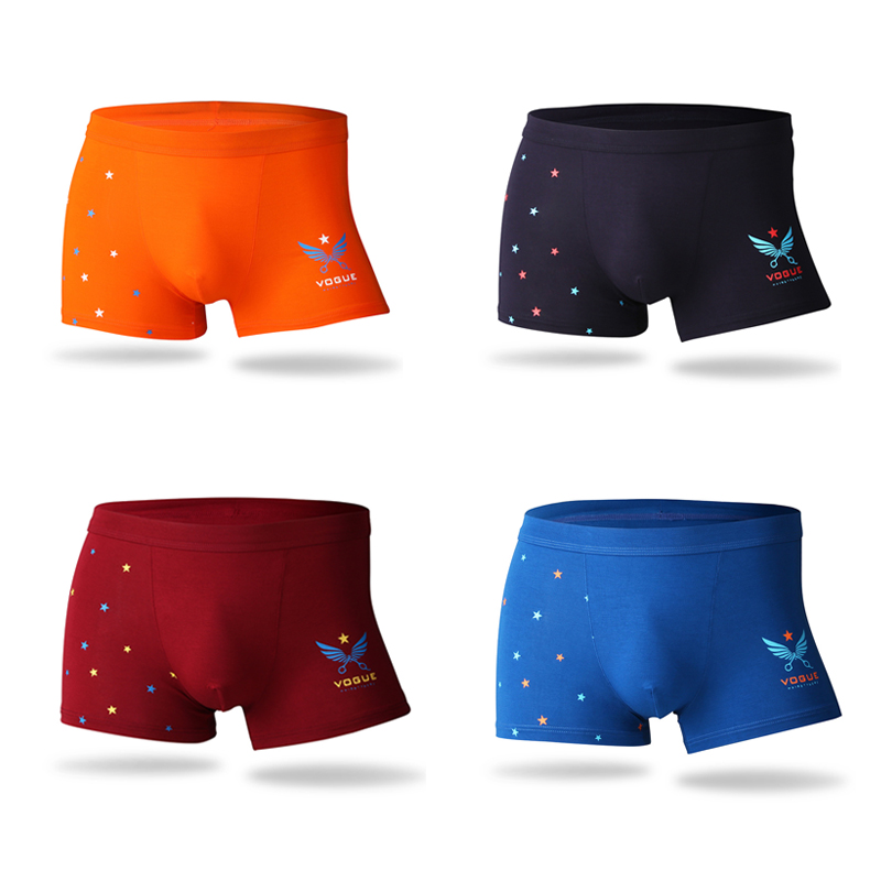 2019 Bamboo Fiber Underwear Men Brand Print Soft Mens Boxer Shorts Middle-waisted Male Panties Comfortable Breathable Underpants