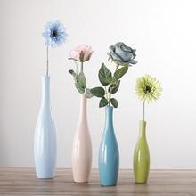 Modern Ceramic Colorful Vase Handicraft Porcelain Home Decor