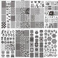 2017 Nuevo 32 Unids Últimas 32 Estilos Arte Del Clavo de DIY Plantilla del Sello Polaco Stamping Placas Radiográficas Decal X8072