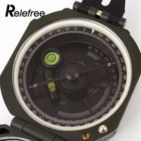 Relefree Military Compass Hiking Outdoor Camping Equipment Geological Compass Compact Scale Survival