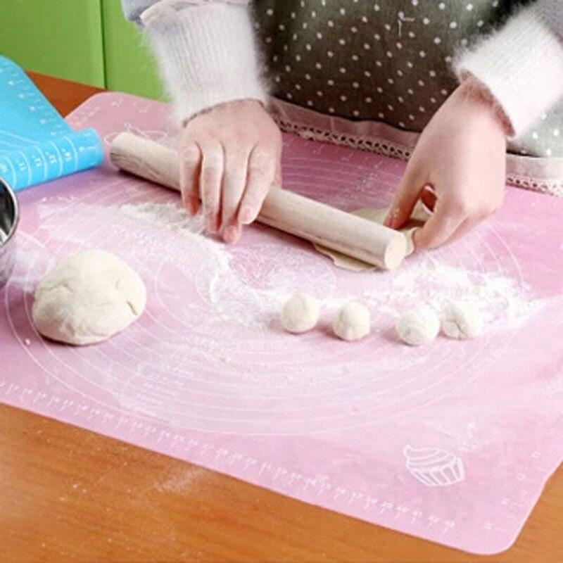 50 40cm Silicone Mat Baking Cake Dough Fondant Rolling