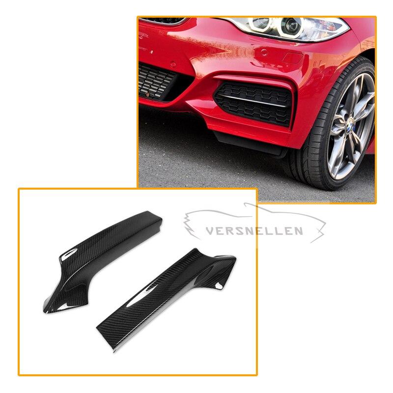 Pour BMW F22 carbone avant séparateur 2 série F22 m-tech M235i M240i 2014 UP carbone avant lèvre pare-chocs séparateur volets Kits de carrosserie