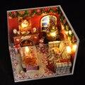 Ручной работы Кукольный Дом Мебель Миниатюрный Кукольный Домик Миниатюре Diy Кукольные Домики Деревянные Игрушки Для Детей Подарок На День Рождения Ремесло TW8
