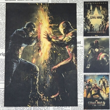 Cuadro de pared Iron Man capitán hombre araña América vieja generación Poster Vintage HD Bar/café Retro artesanías arte mural etiqueta 21*30cm