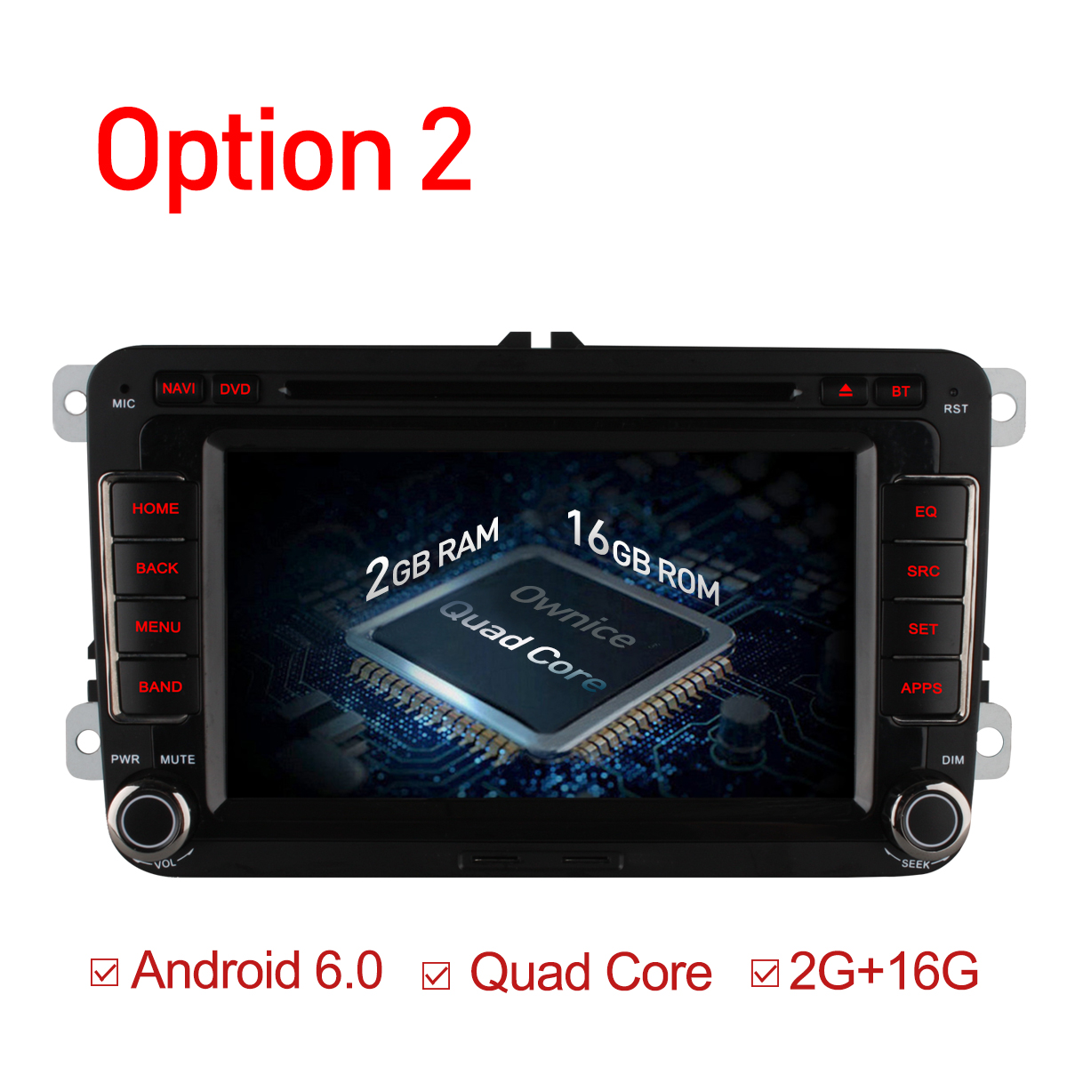 Ownia Octa 8 Core Android 6.0 2G RAM Автомобиль DVD - Автомобиль электроникасы - фото 3