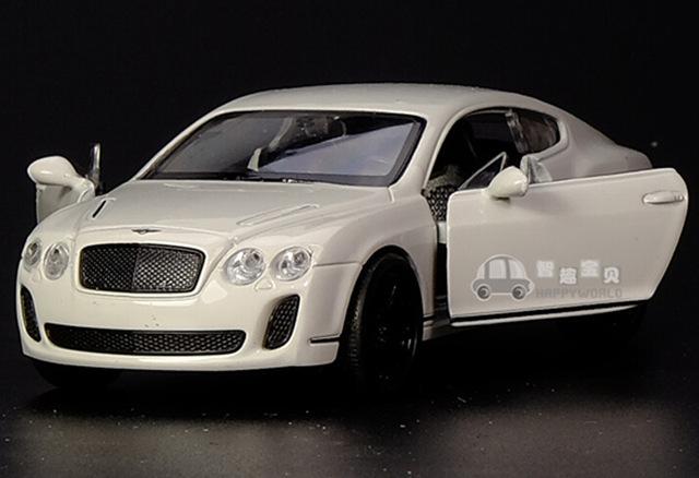 Candice guo aleación modelo de coche 1:36 Welly fresco Bentley Continental GT vehículo tire hacia atrás del motor de plástico collection toy regalo de cumpleaños