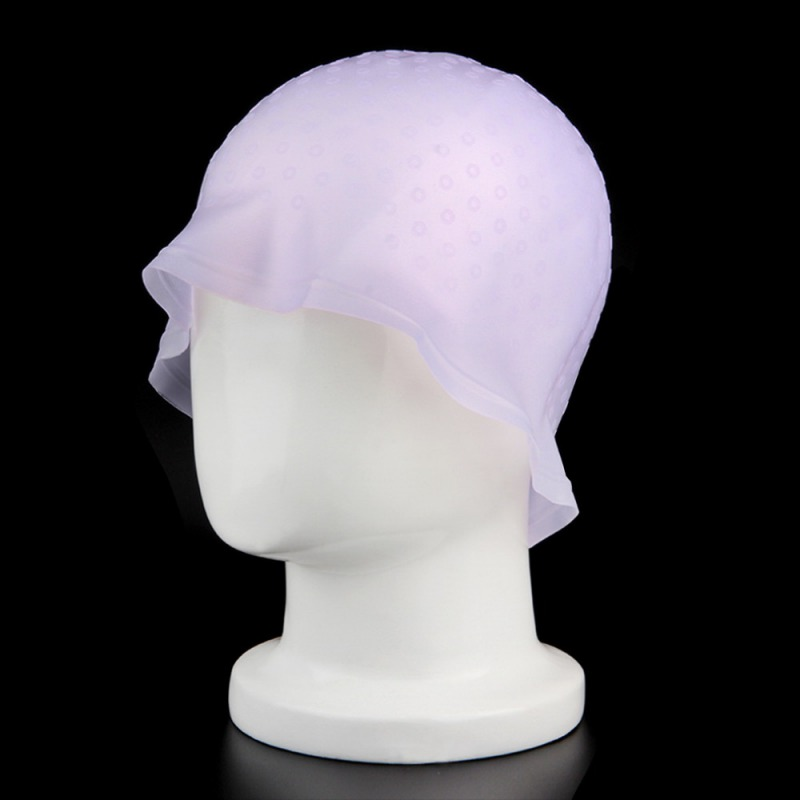 Professional Reusable Hair Coloring Highlighting Dye Cap With Hook Frosting Tipping Color Styling Tools