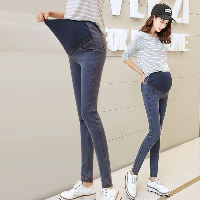 MamaLove High Waist Maternity Jeans Maternity Pants Capris Casual pregnancy For Pregnant Women Pants Maternity Clothing