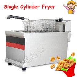 Elektryczny pojedynczy cylinder frytkownica frytki placki maszyna do kurczaków komercyjnych maszyna do smażenia IDZG-903