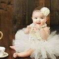 Volantes de 3 Unidades Set Incluye Tutú Tutus bebé Set de Lujo La Venda de la falda y la Parte Superior del Recién Nacido Foto Atrezzo Cumpleaños Tutu Set TS068