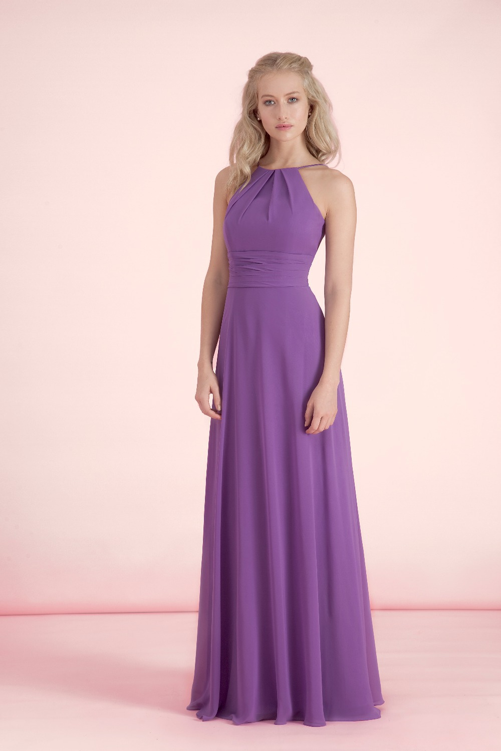 Aliexpress buy purple a line chiffon halter bridesmaid aliexpress buy purple a line chiffon halter bridesmaid dresses with low back plus size prom party gown long dresses for wedding guests klr06 from ombrellifo Choice Image