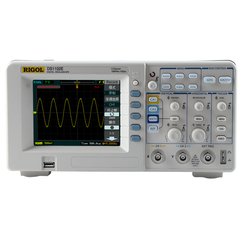 RIGOL Oscilloscope DS1102E DS1052E 100M 50M Dual Channel Digital Oscilloscope
