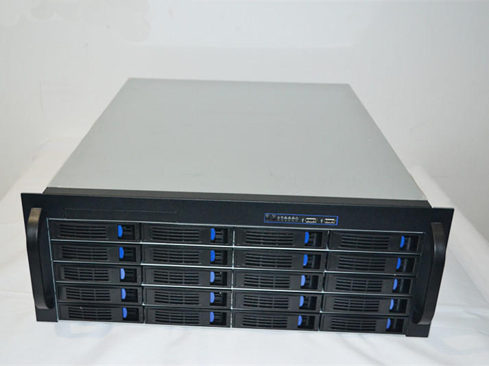 4U 20 bit hot plug short chassis, 550mm long storage rack, NAS HD storage case rack type chassis 1ur1304 hot plug 1u 4 disk storage cabinet server case