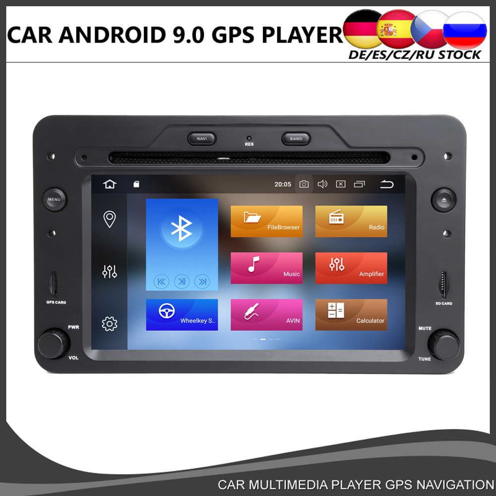 Octa core Android 10.0 Car DVD Player GPS Per Alfa Romeo Spider Alfa Romeo 159 Brera 159 Sportwagon 4GB + 64GB Wifi Radio BT DAB +