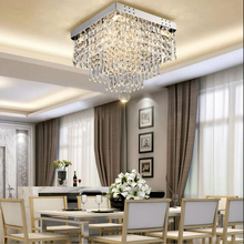 Fashion square crystal led Chandeliers LED lamps