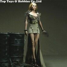 For collection 1/6 Long Battle Dress Belt Clothing Model with a pair bracelets 12 TBLeague Phicen Big Bust Female Body