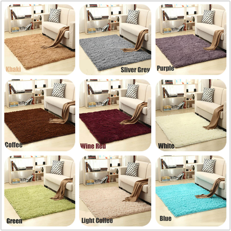 16 Colors Soft Fluffy Rugs Anti-Skid Shaggy Carpet Kids Room Faux Fur Area Rug For Living Room European Fluffy Mat Home Supplies