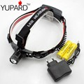 YUPARD Q5 LED 5W 18650/AAA Headlight Headlamp camp Zoomable Zoom in out  headlamp+2*3800mAh rechargeable 18650 Battery+charger