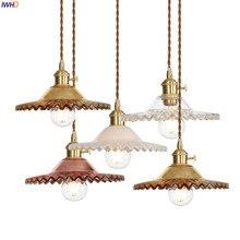 IWHD Loft Phong Cách Bắc Âu Kính Mặt Dây Chuyền Đèn Đèn Ăn Phòng Khách Retro Cổ Điển Pendant Ánh Sáng Đạc Hanglamp Edison