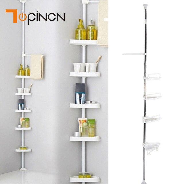 Stainless Steel Bathroom Corner Shelf 4Pcs Plastic Shelves Plate ...