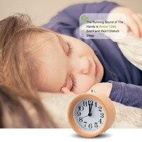 JINSUN Будильник Деревянный Повтор прикроватные часы Подсветка Цифровой иглы круговой бесшумный не тикает простой