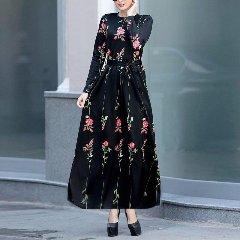 2019 Summer Abaya Caftan Robe Dubai Islamic Kaftan Hijab Muslim Dress Women Ramadan Tesettur Elbise Eid Dresses Vestidos Arabes