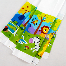 1 ชิ้น/ล็อตสัตว์ป่าผ้าปูโต๊ะ baby shower party ตกแต่ง Safari theme disposable tablecloths สัตว์ party supplies